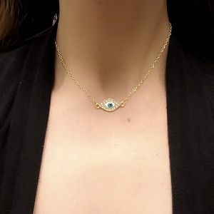 Jewelry - Gold Crystal Eye Necklace